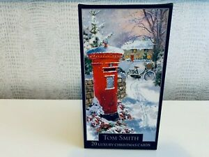Tom Smith 20 Luxury Christmas Card 2 Designs with envelopes