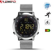 Lemfo Bluetooth EX18 Impermeable Reloj Pulsera Inteligente Plata pa Android iOS