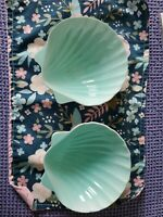 Aqua Seashell Bowls/beach