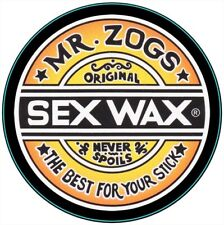 Circular Vinyl Sticker zogs sex wax surfing snowboarding laptop car decal surf 3