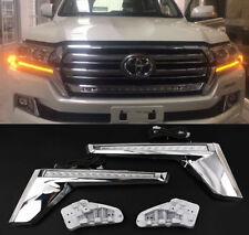 LED Car Front Daytime Running Light Lamp DRL For Toyota Land Cruiser LC200 16-20