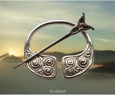 Vintage Scottish Iona Sterling Silver Penannular Brooch  Hamish Dawson Bowman