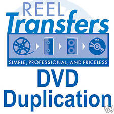 REEL TRANSFERS -  DVD Duplication (1-20 copies)