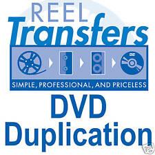 REEL TRANSFERS -  DVD Duplication (1-20 copies)