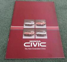 1984 HONDA CIVIC DELUXE S SHUTTLE CRX - UK 28pg BROCHURE
