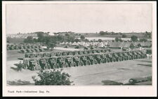 INDIANTOWN GAP PA Army Base Camp Truck Park Vintage PC