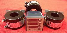 Three Phase Meter for Amperage, Voltage, Frequency, Hours With three 200 AMP CTs