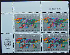 NATIONS-UNIS (New-York) timbre/stamp Yvert et Tellier n°666 x 4 n** (Cyn14)