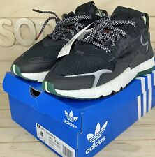 Adidas Women's Originals Nite Jogger 3M Boost Black Sneakers Size 8 (EE5914)