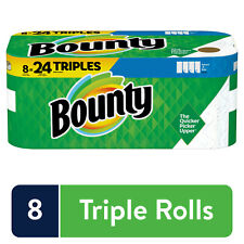 Bounty Select-A-Size Paper Towels, White, 8 Triple Rolls + FREESHIPPING