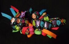boutique bow loopy bow neon colors candy theme