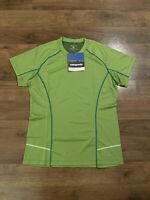 Patagonia Runshade UPF 30 Women's Size Medium Green Shirt Athletic NEW NWT Sun