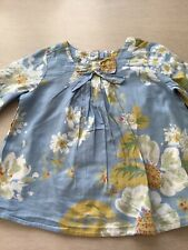 Girls Autograph Light blue floral top age 2-3 years