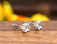 925 Sterling Silver Earring Studs | Claw Setting for 5mm Stone | 1 Pair