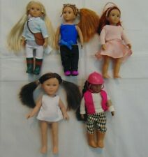 "5-Pc Variety Lot of Mini 6"" American Girl 4 Lori 1 Dolls & My Life & Outfits"