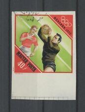 UNGARN OLYMPIA 1972 UNGEZÄHNT GEST. FUßBALL FOOTBALL SOCCER IMPERF h3157