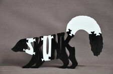 Skunk Woodland  Animal Amish Made Wooden Scroll Saw Puzzle Toy