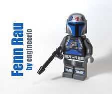 LEGO Custom -- Fenn Rau v1 -- star clone wars mini figure mandalorian trooper