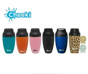 Cheeki 350ml Travel Coffee Mug - Leakproof and Insulated - 7 Colours Available