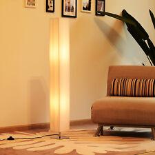 Stehleuchte Stehlampe Standlampe Standleuchte E27 Edelstahl 14x14x120cm Weiß