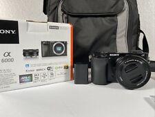 Sony Alpha a6000 24.3mp Digital Camera W/ 16-50mm Lens Samsonite Camera Bag SDS