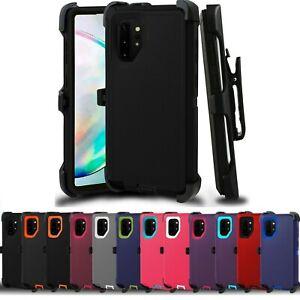 For Samsung s6 7 8 9 10 Note 5 6 7 8 9 10 + Case Protective Defender w/belt clip