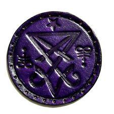 sigil of lucifer purple antique circle GENUINE LEATHER  PATCH