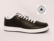 CONVERSE ALL STAR COURT OX BLACK GENUINE LEATHER TRAINERS SHOES MENS