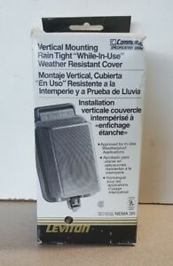 NEW LEVITON 5976-CL WEATHER RESISTANT CLEAR RECEPTACLE COVER