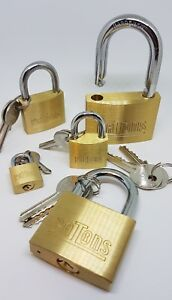 Padlocks with 2 Keys **Various Sizes available**