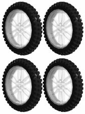 4 Lego XL MOTOCROSS Tires + Wheels (technic,bike,dirt,bicycle,trial,motorcycle)