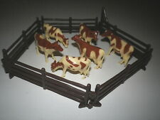 MINI GUERNSEYS: 6 COWS + 5 CORRAL PANELS*MINI DAIRY SETUP
