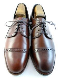 "NEW Allen Edmonds ""BOULEVARD"" Cap-Toe Oxfords 9 D  Chili Made in the USA  (488)"