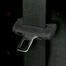 1*Car Seat Belt Buckle Clip Silicone Anti-Scratch Cover Black Safety Accessories