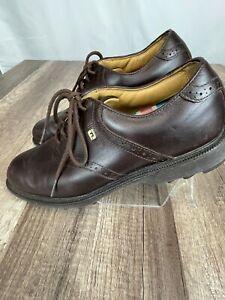 FootJoy Club Pro Brown Spikeless Golf 57014 Men's Size 9.5