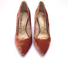 Sam Edelman Hazel Pointy Toe Pump - Women's Size 8M - Paprika Velvet