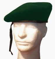French Wool Monty Military GI Beret Cap Hat-Green