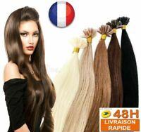 50/100/200 EXTENSION DE CHEVEUX POSE A CHAUD 100% NATUREL REMY HAIR 49-60CM UTIP
