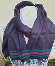 Thomas Pink Mens Scarf 53% Cashmere Made UK Mulberry Reijo Check 30 X 160 RRP£70