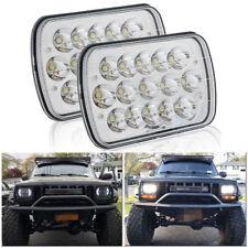 "5x7"" Rectangular Chrome LED Headlights Hi/Lo Beam For Jeep Dodge D250  Zo"
