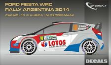 DECALS 1/43 FORD FIESTA WRC #10 - KUBICA - RALLYE ARGENTINE 2014 -MF-ZONE D43320