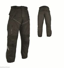 New Mens Motorcycle Trouser CE Armoured Black Motorbike Textile Jeans Waterproof