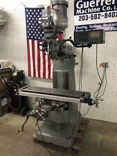 Bridgeport Milling Machine 42 Table Amp Dro