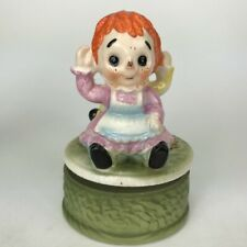 Raggedy Ann And Andy Rotating Music Box Price Imports Vintage Made in Japan