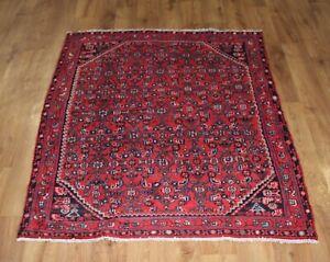 Traditional Vintage Wool Handmade Classic Oriental Area Rug Carpet 152X 125 cm