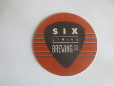 1 only SIX STRINGS Brewing Co ,Amplified Ales beer Issue Coaster