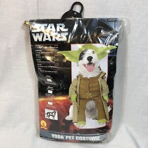Star Wars Yoda Pet Costume Size Small for Small Dogs and Cats #50101 Halloween