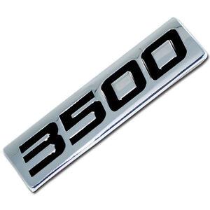 CHROME/BLACK METAL 3500 SERIES ENGINE MOTOR SWAP BADGE FOR TAILGATE HOOD DOOR
