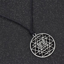Sri Yantra Pendant Necklace Sacred Geometry Amulet Meditation Chain Unisex Gift