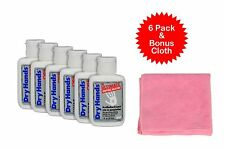 6 pack Dry Hands Powder 1oz Grip + Bonus Pink Cloth Pole Dancing Sports Golf
